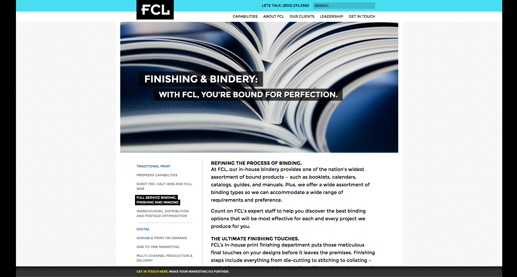 5 FCL Bindery - FCL GRAPHICS - CORPORATE WEBSITE