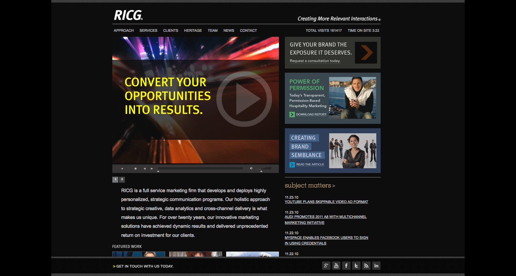 Homepage Test - RICG - CORPORATE WEBSITE