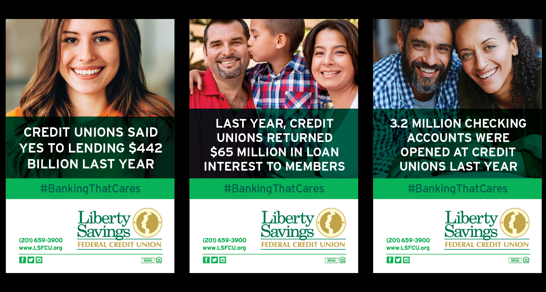 Stats2b - LIBERTY SAVINGS - BANKING THAT CARES CAMPAIGN