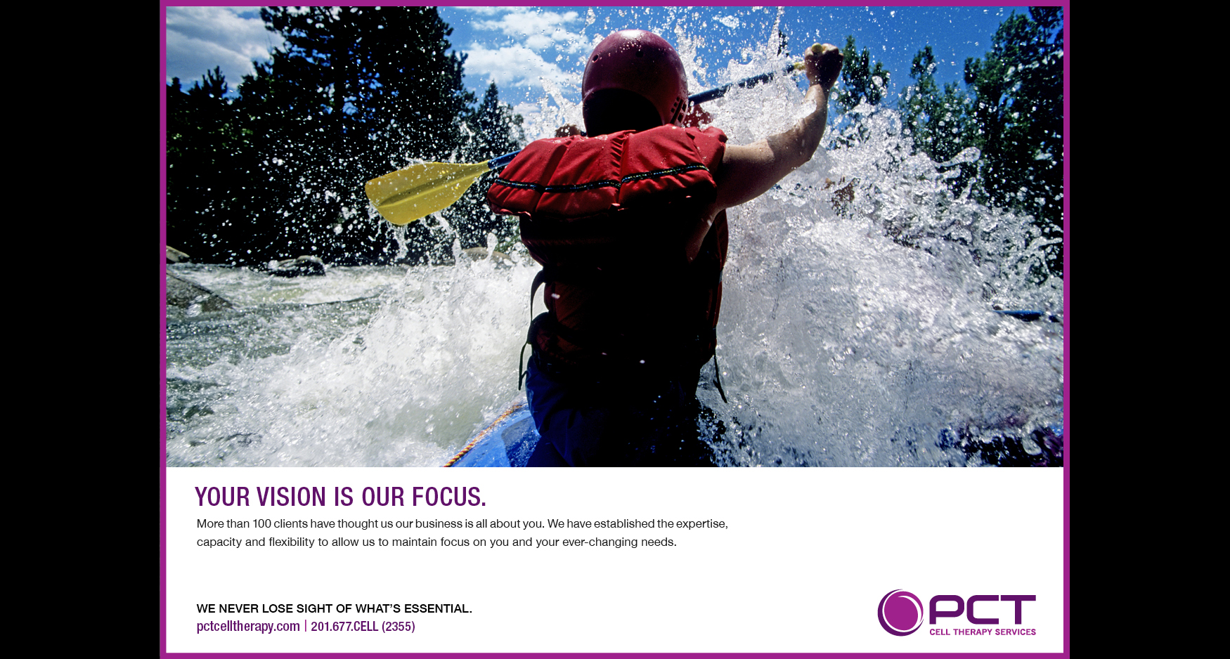 kayak - PCT CELL THERAPY - ADVERTISING