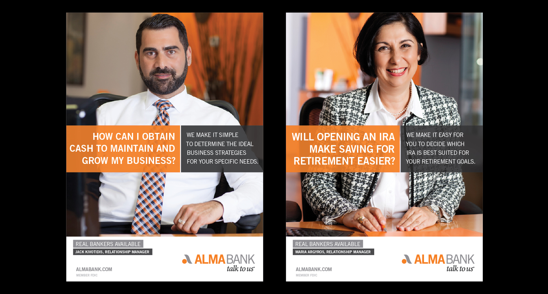 Alma Posters - ALMA BANK - TALK TO US CAMPAIGN