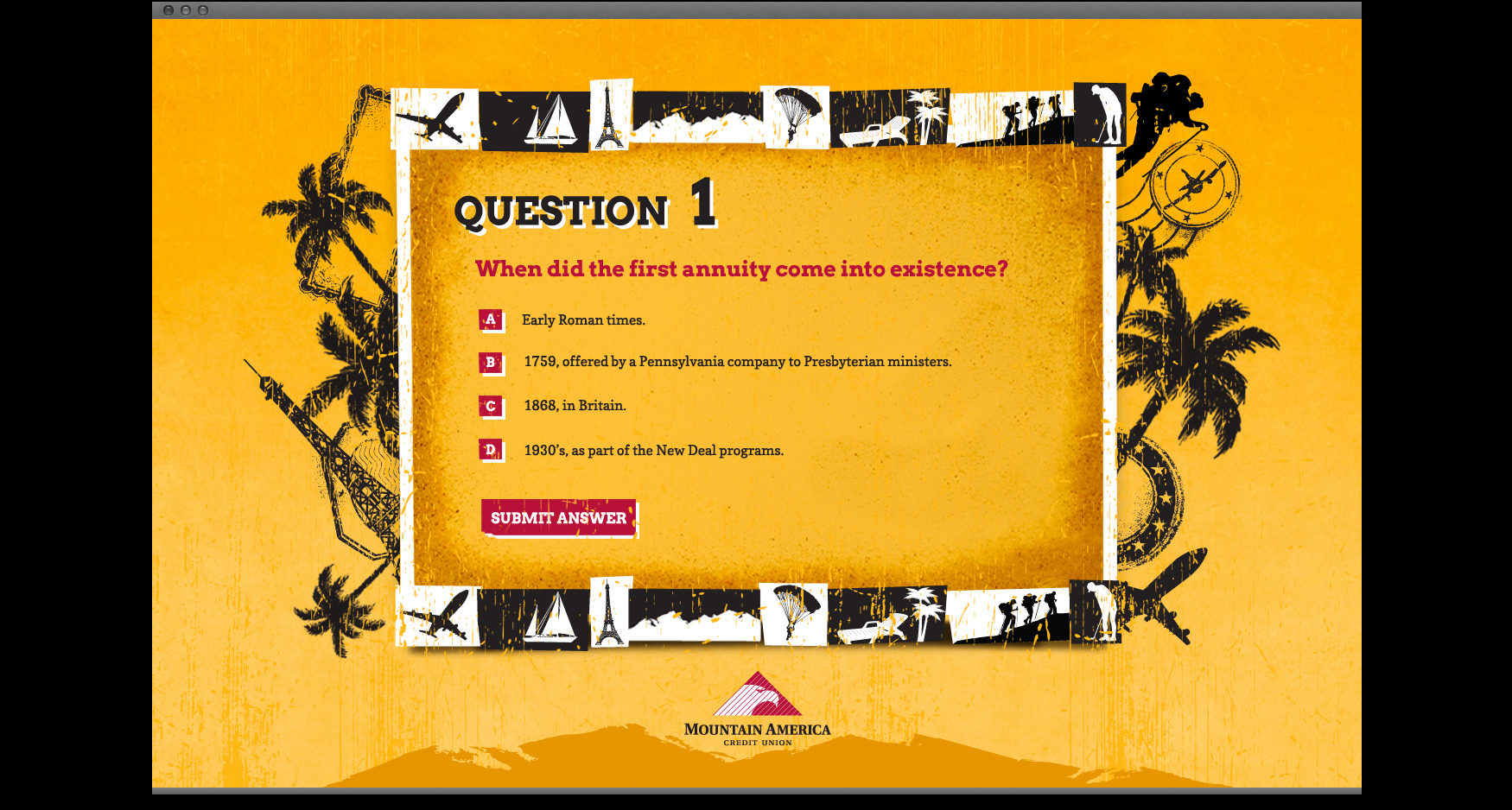 MACU 3 - MOUNTAIN AMERICA CREDIT UNION - RETIREMENT 101 QUIZ SITE