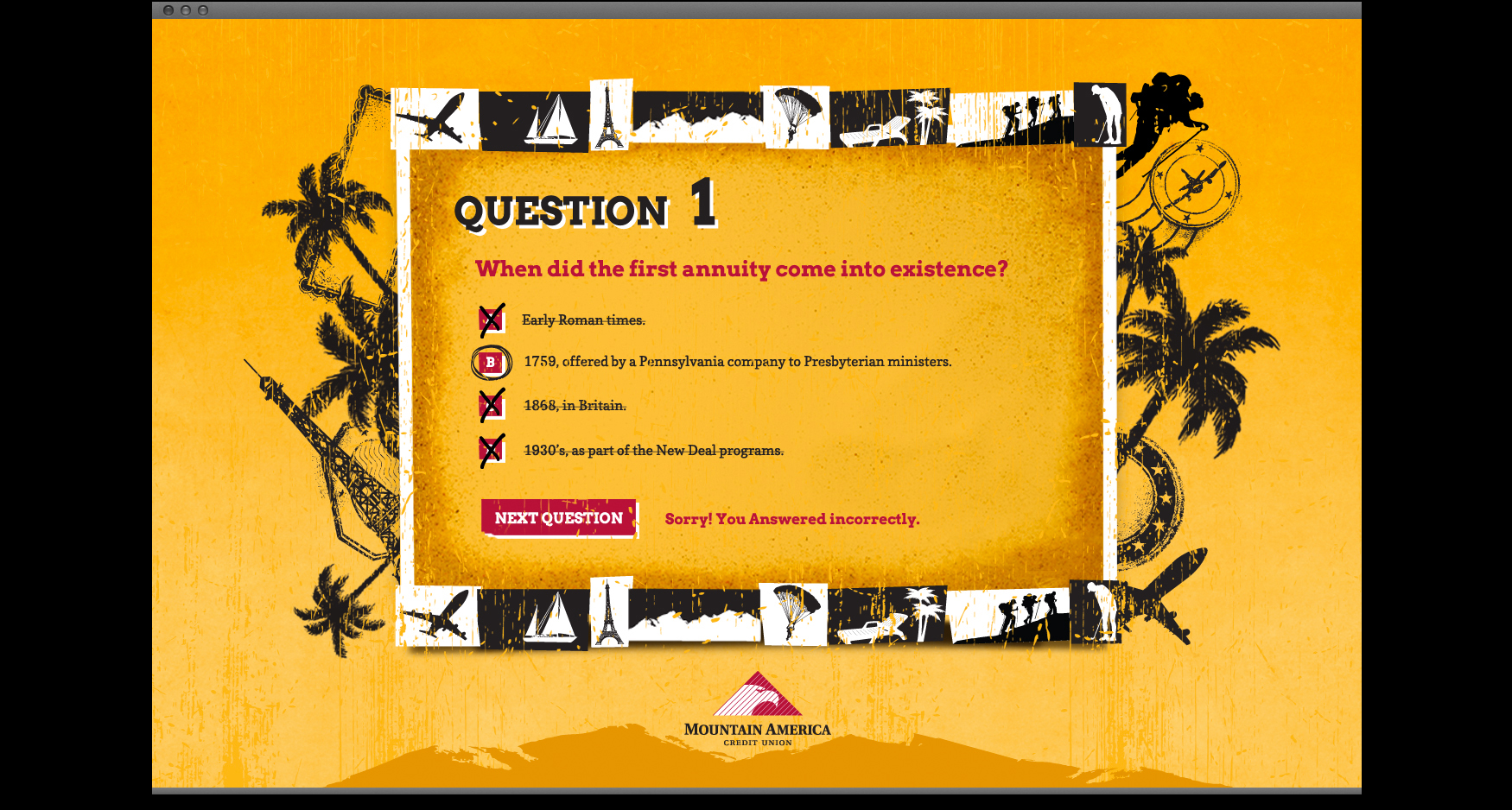 MACU 4 - MOUNTAIN AMERICA CREDIT UNION - RETIREMENT 101 QUIZ SITE