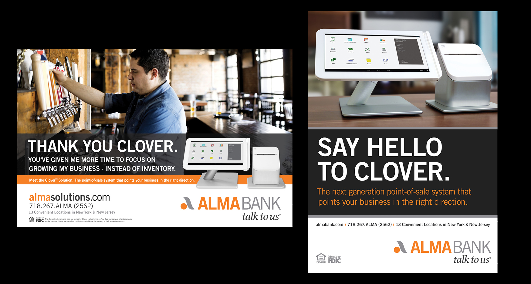 Alma - ALMA BANK – CLOVER POINT-OF-SALE SYSTEM CAMPAIGN