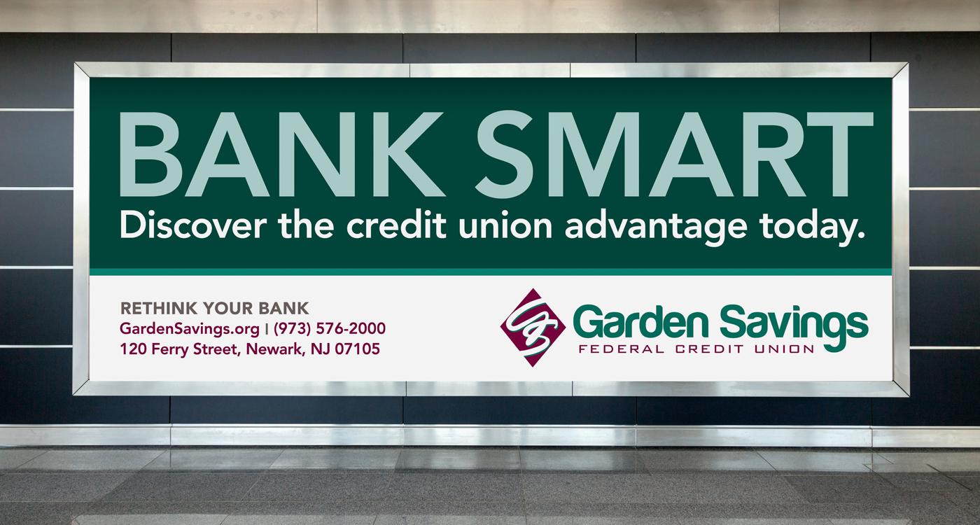 GSFCU Billboard 1   GARDEN SAVINGS   RETHINK YOUR BANK CAMPAIGN
