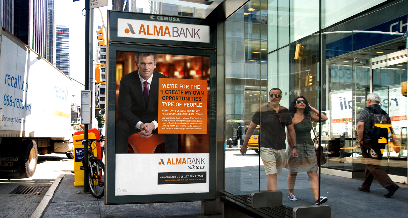 Man - ALMA BANK – OUT-OF-HOME