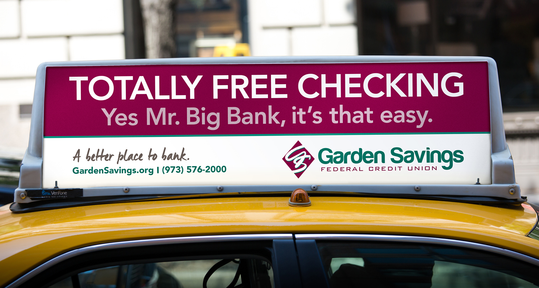 Taxi Topper - GARDEN SAVINGS – RETHINK YOUR BANK CAMPAIGN