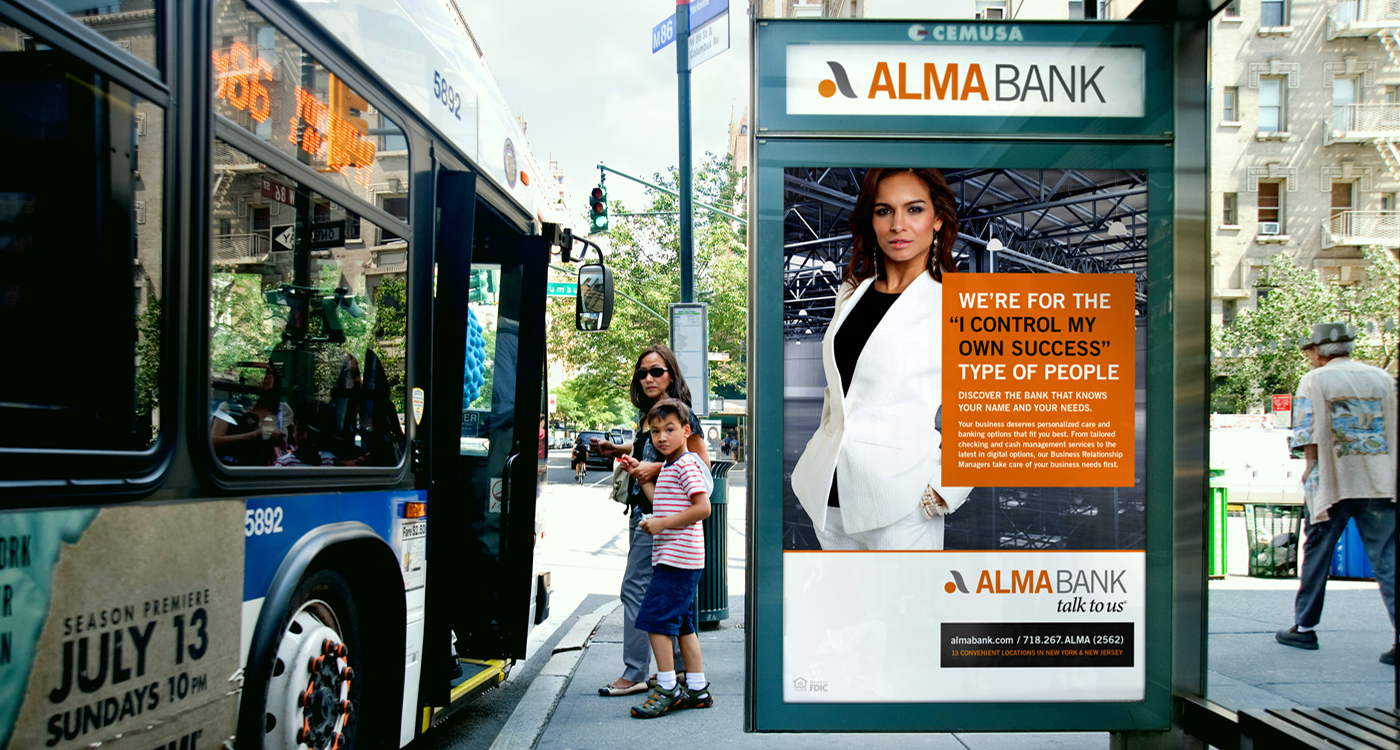 woman - ALMA BANK – OUT-OF-HOME