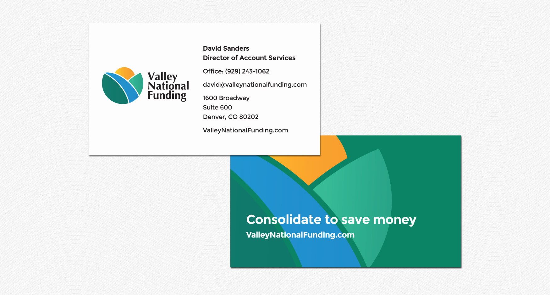 2 Print 1 - Valley National Funding - Stationery