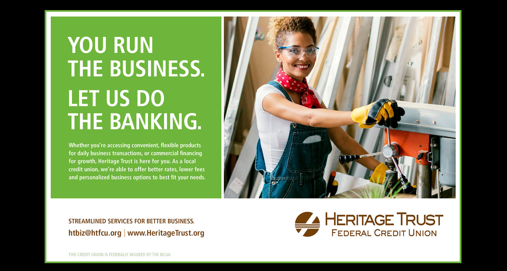3 Print - Heritage Trust Federal Credit Union - B2B Advertising