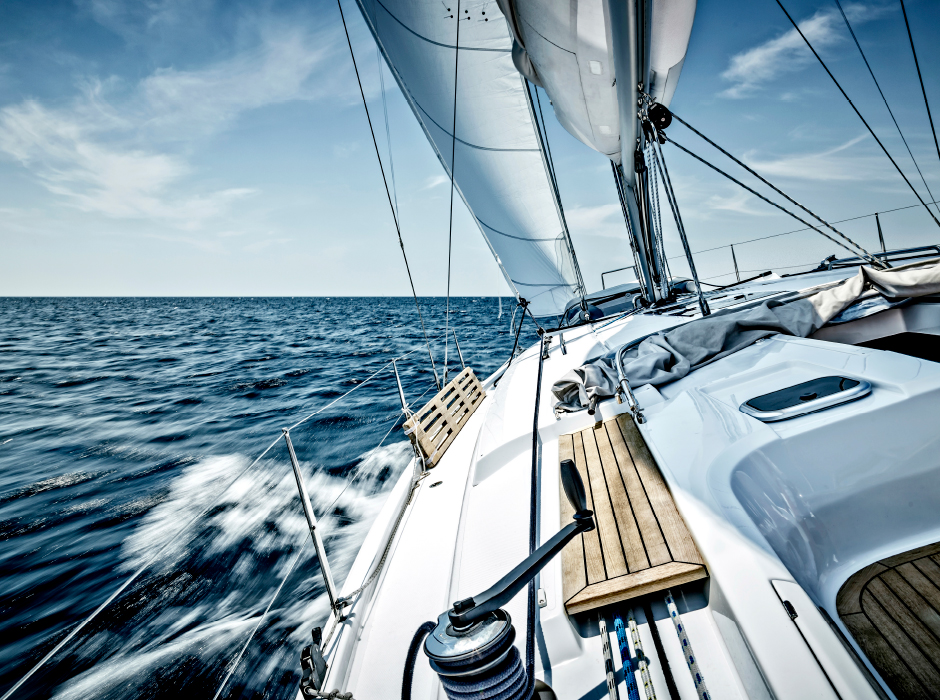 Boat Sailing Through Open Water