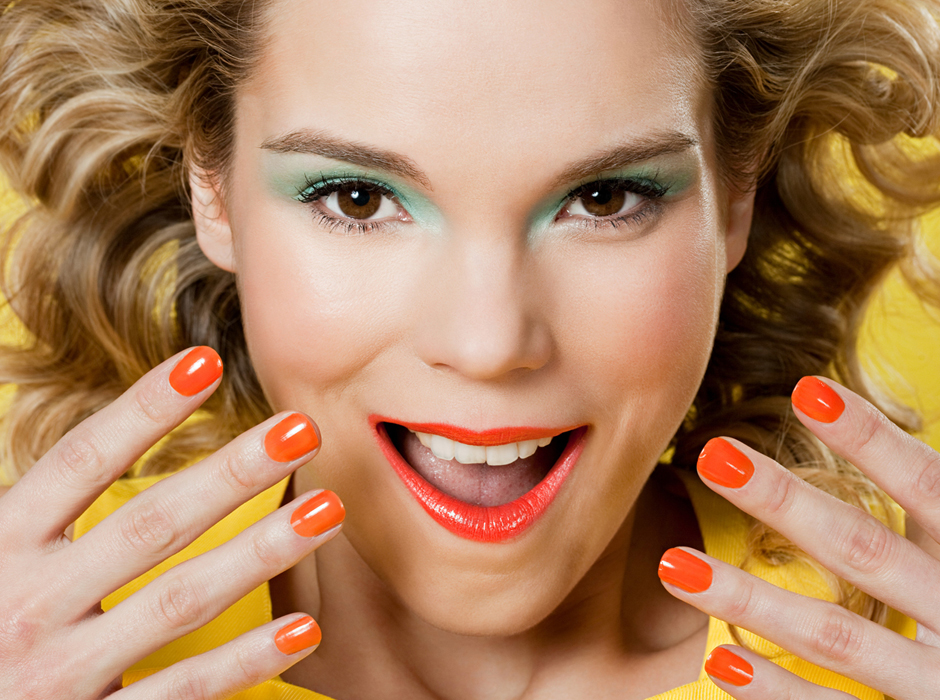 SuperStock Photo Of Woman With Colorful Makeup