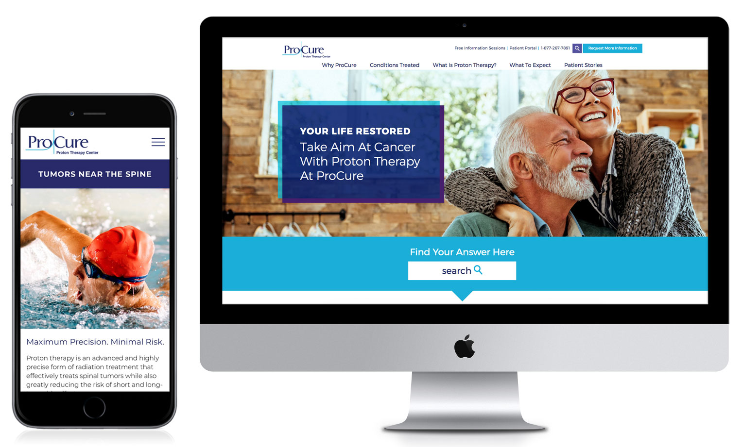 Desktop And Mobile Interfaces Showing Redesigned ProCure Website