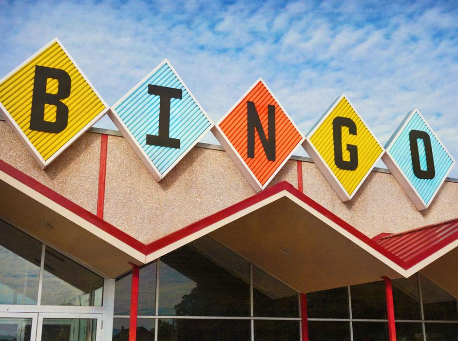 Retro Bingo Hall Exterior Sign