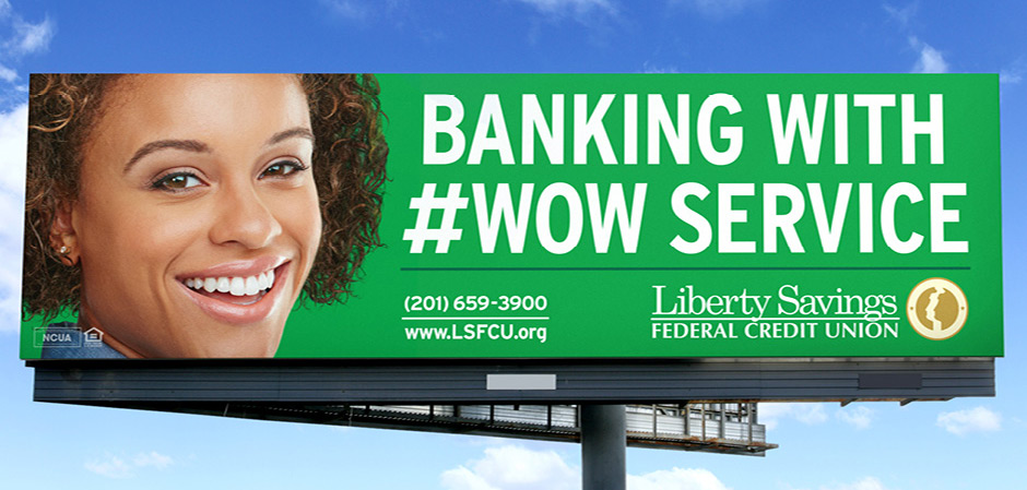 credit union billboard advertisment