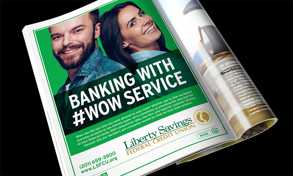 Credit union magazine ad