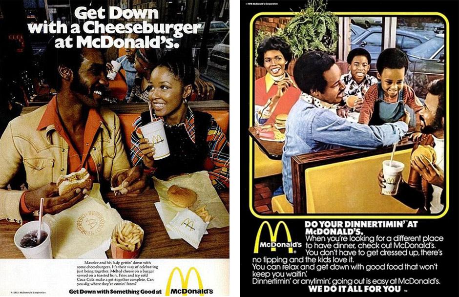 Two Vintage McDonalds Advertisements