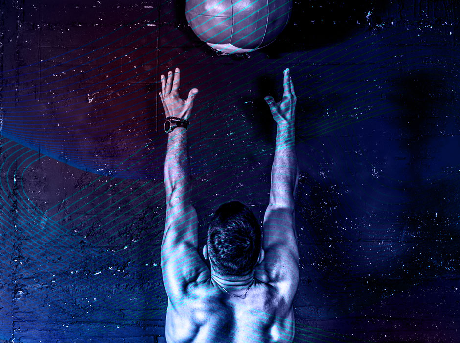 Man Lifting Medicine Ball